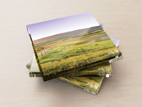 Rolling Hills Purple - Glass Coasters